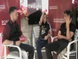 Borders interview Kristen Stewart  and Robert at Comic Con