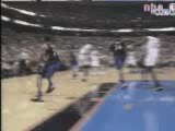 NBA Basketball-Allen Iverson dunks on Vince carter