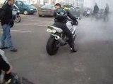 petit rond burn moto