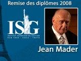 Remise des diplômes ISG promo 2008 - Discours de Jean Mader - Doyen