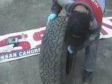 reparation pneu avec meche par  nissan cahors vidéo 1sur 7