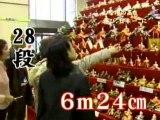 Konosu prepara o maior altar para o Hina Matsuri