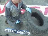 Reparation pneu avec meche  nissan cahors video 7 sur 7