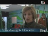 Grève des infirmières du CHU de Caen