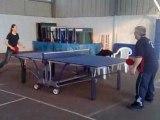 Entrainement tennis de table tt baulon hélène, gé