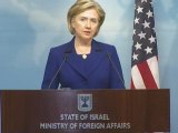 Clinton reaffirms US support for Mideast two state solution