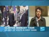 Clinton criticises Israel's plans