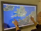 Dual Touch Through Glass Google Earth Touch - Prototype