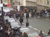 Chaîne humaine autour de la Sorbonne
