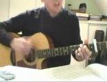 Je dis aime M Matthieu Chedid reprise guitare acoustique