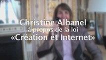 """Christine Albanel à propos de la loi """"Création et Internet"""""""