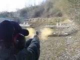 357 mag tir a 7.5 mètres smith et wesson sur 5quilles12.2sec