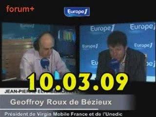 ITW de Geoffroy Roux de Bezieux (10.03.09)