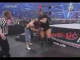 Randy Orton gives Cena an RKO on a steel chair