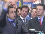 Nicolas Sarkozy, chez Alstom, à Ornans