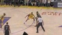 NBA Andre Iguodala hits a buzzer-beating three pointer to wi