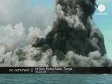 Explosion d'un volcan sous-marin