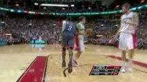 NBA Gerald Wallace steals the pass. He finishes with a huge
