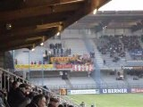Auxerre Le Mans, entrée des joueurs et ambiance des kops