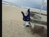 l'entrainement dur de usef à la plage