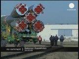 Arrivée de la fusée Soyuz