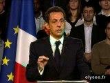 Discours de Nicolas Sarkozy à Saint-Quentin le 24-3