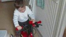 Gauthier premier vélo : cadeau d'Oscar