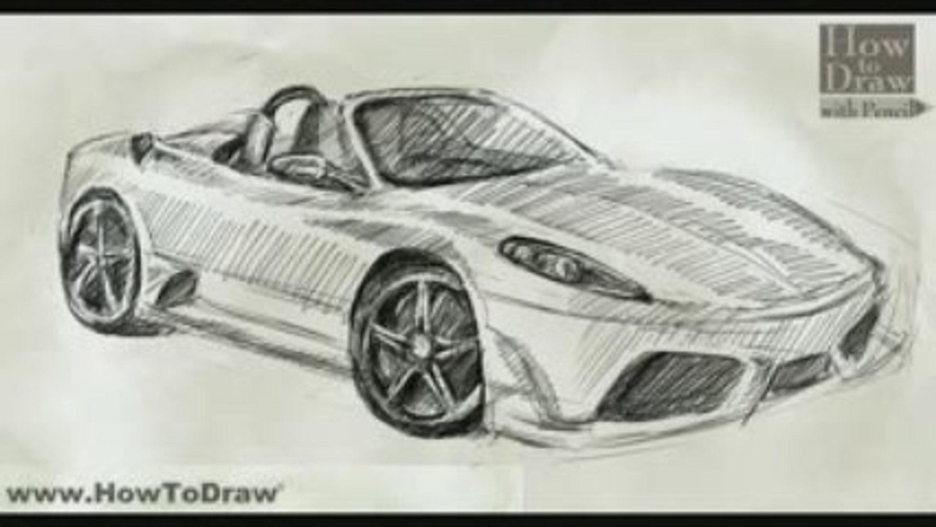 How To Draw Car Ferrari Scuderia Spider 16m Video Dailymotion