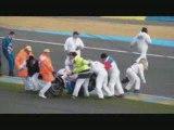 Depart promosport moto le mans 2009 (crash dunlop)