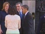 Barack Obama arrives at Downing Street ahead of G20 summit
