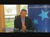 Philippe de Villiers : le projet Libertas pour l'Europe
