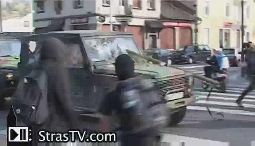 Premier jour d'émeutes Sommet de l'OTAN à Strasbourg