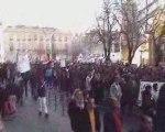 Bordeaux - Manifestation gaza PCF UMP PS NPA FN