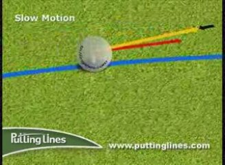 Golf putting lines video