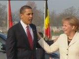 Barack Obama arrives at Nato summit in Germany