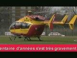 Accident moto Noisy-le-Sec évacuation héliportée pompiers