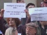 Manifestation de soutien aux aidants de sans papiers