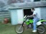 Régis en moto cross