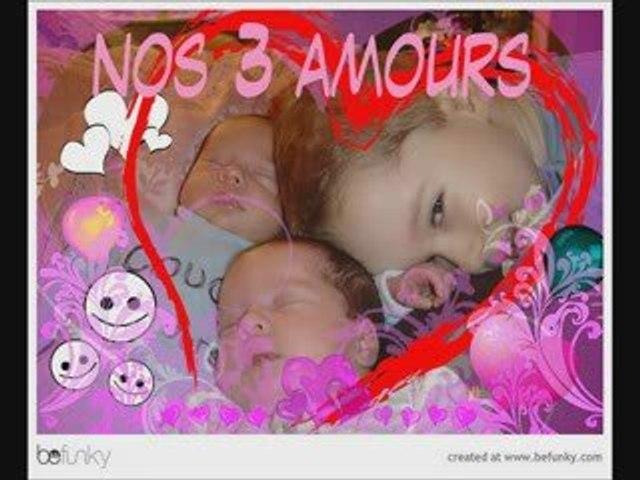 Photos vidéo nos 3 bébés
