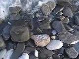 Las  olas no paran en las playas de Mezquitilla (Malaga)