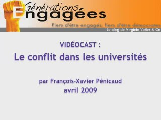 Videocast : le conflit dans les Universités