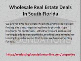 Wholesale Real Estate Deals In South Florida