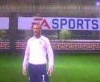 Coup franc  enroulé  (banana curl) Beckham Fifa 09