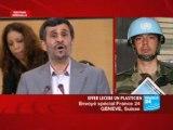 Ahmadinejad Accident à Durban II Geneve 2009
