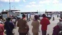 Belle Ile en Mer - Le Palais - Fanfare à l'arrivée du bateau