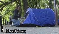 Les Don Quichotte dressent leurs tentes à Strasbourg