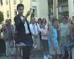 Fabrice magicien spectacle de rue au festival d'Avignon 2007