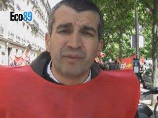 Manifestation des salariés de la Fnac et de Conforama
