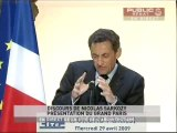 EVENEMENT,Discours de Nicolas Sarkozy sur le grand Paris