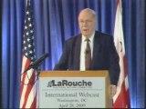 Lyndon LaRouche conférence du 29 04 2009 part1
